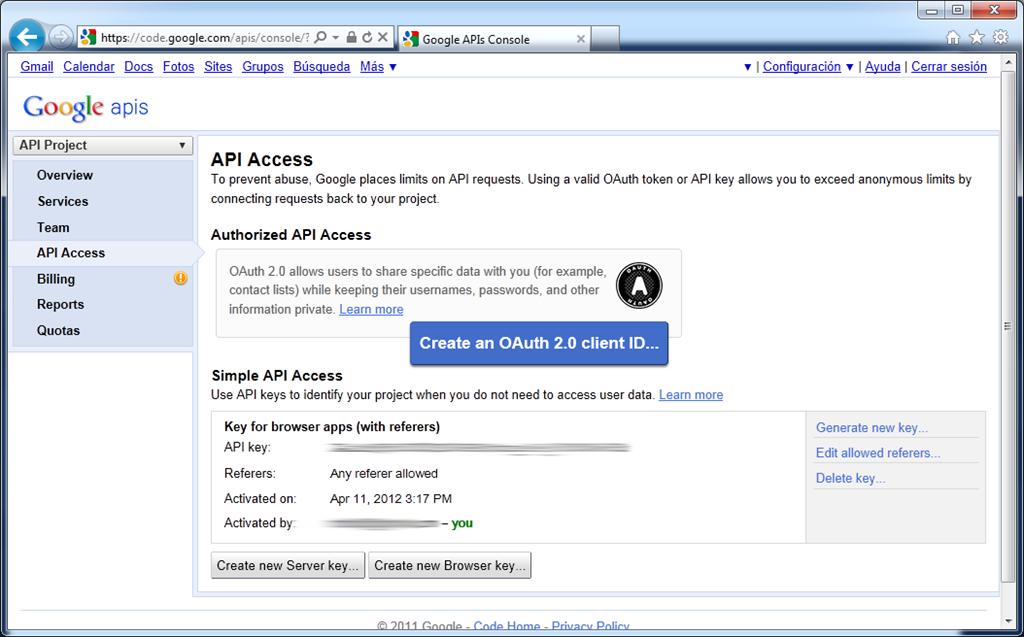 Activación Google Maps API