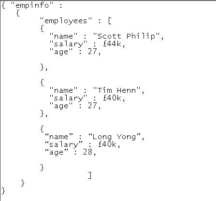 ejemplo JSON