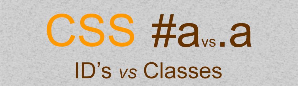 ID Vs Class